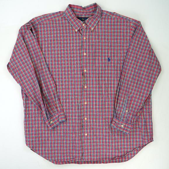 Ralph Lauren Other - Polo Ralph Lauren Big Shirt Oxford Pink Plaid 2XB